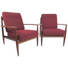 Grete Jalk Lounge Chairs for France & Daverkosen