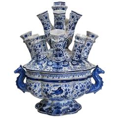 Delft Blue and White Tulipiere