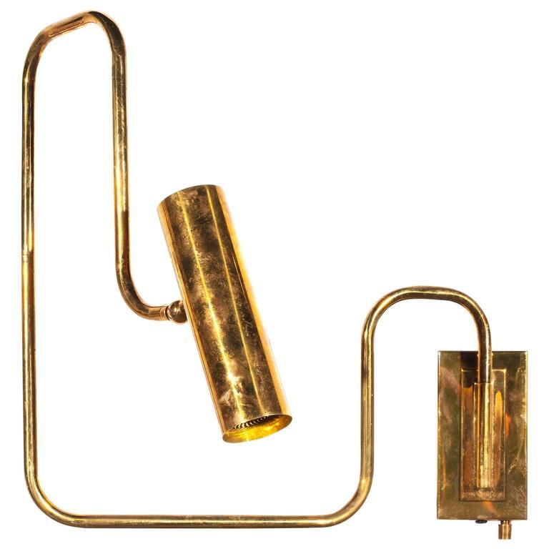 Brass Handmade Pivot Light Wall Sconce Designed by Christopher Gentner
