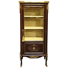 Mahogany and Brass Inlaid Display Cabinet Vitreen