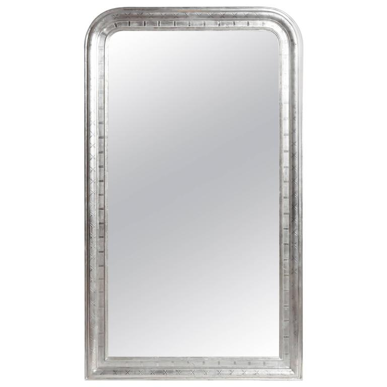 Silver leaf mirror with original glass for sale at 1stdibs for Silver mirrors for sale