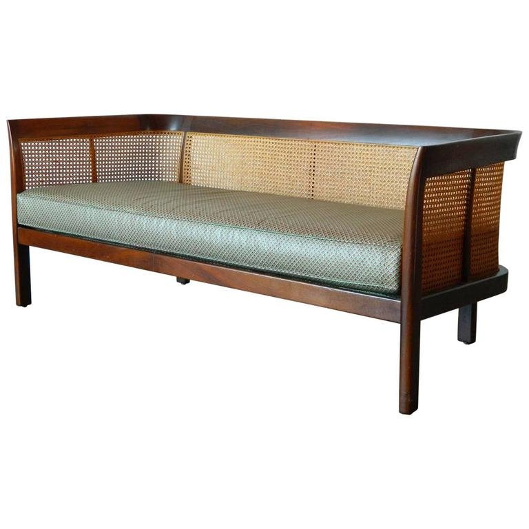 Erwin-Lambeth Caned Settee For Sale