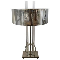 Marvellous Silver and Lucite Lamp