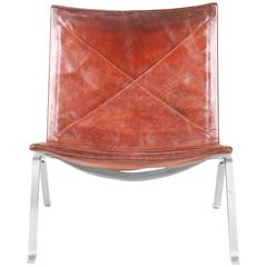 PK22 Lounge Chair in Patinated Leather
