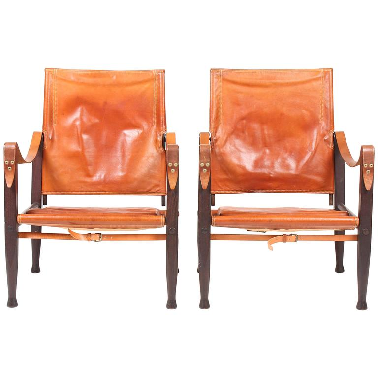 Pair of Safari Chair by Kaare Klint