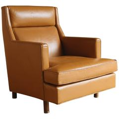 Leather Lounge Chair by Edward Wormley for Dunbar