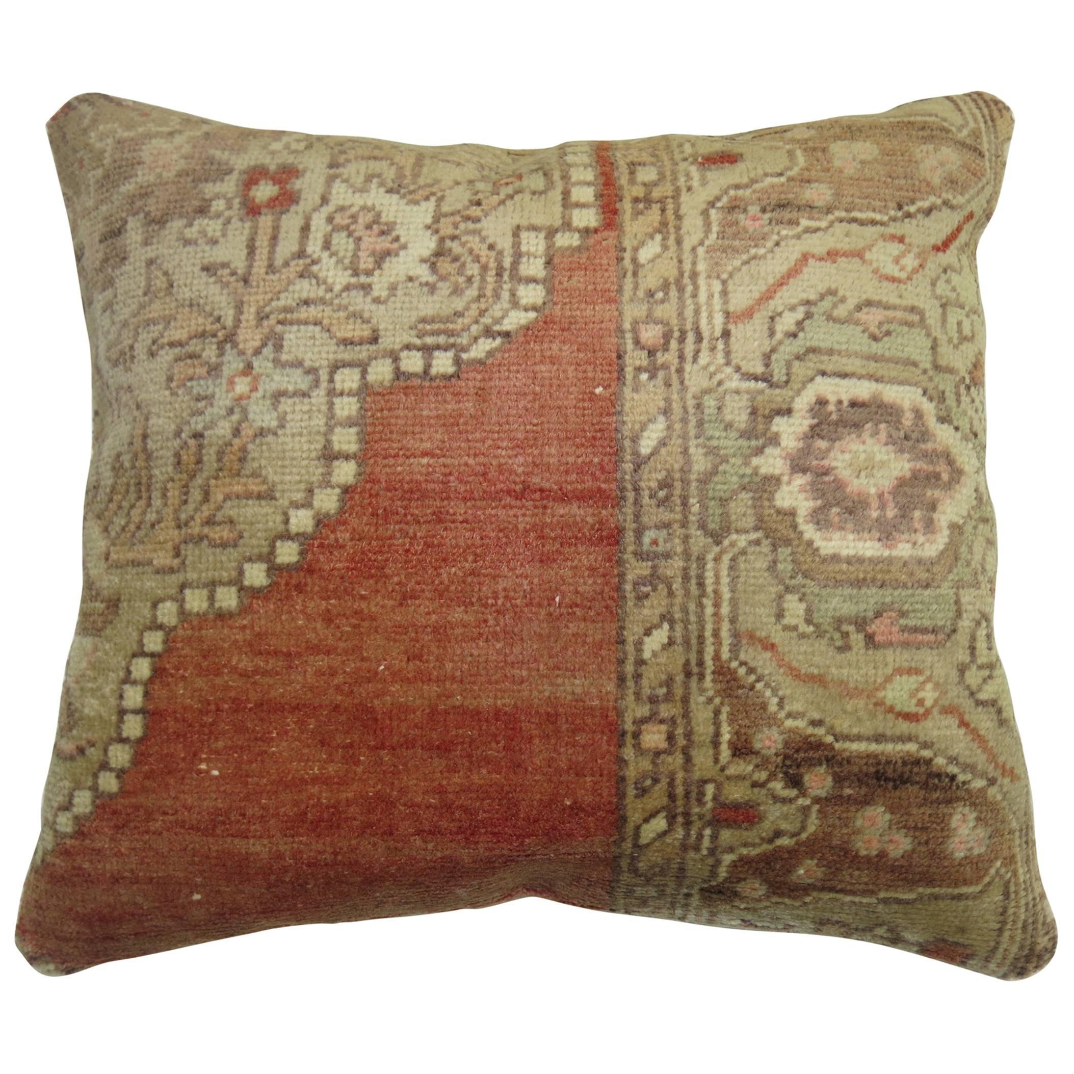 Tradtional Turkish Sivas Rug Pillow