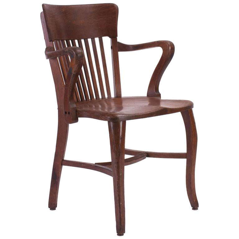 wooden office chair for sale at 1stdibs. Black Bedroom Furniture Sets. Home Design Ideas