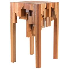 Wooden Pedestal Made from Different Kinds of Wood