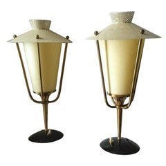 Maison Arlus Pair of Table Lamps, French Mid Century Modern 1950