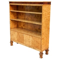 Art Deco Bookcase in Golden Flame Birch and Rosewood