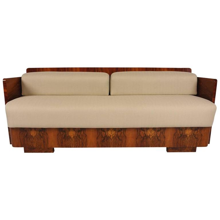 French Art Deco Style Sofa Bed For