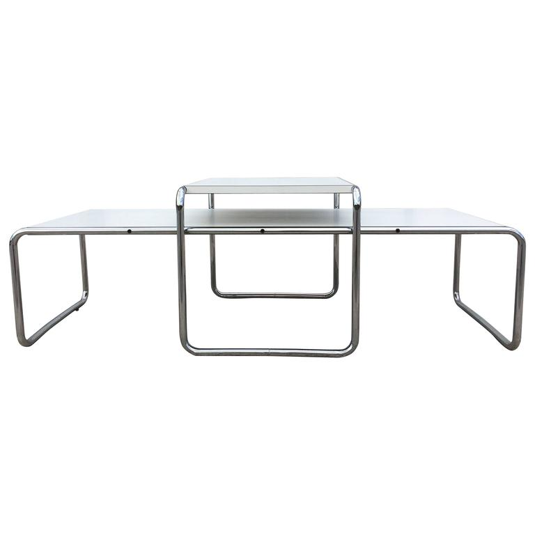 Charmant Vintage Laccio Tables, Design Marcel Breuer For Knoll For Sale