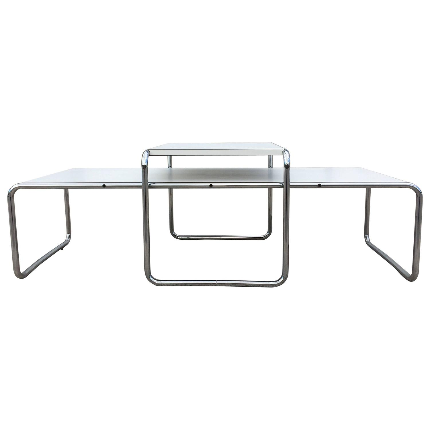 Vintage Laccio Tables Design Marcel Breuer for Knoll at 1stdibs