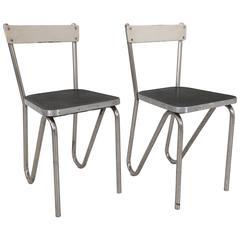 Pair of Modernist Tubular Chairs, circa 1930, France
