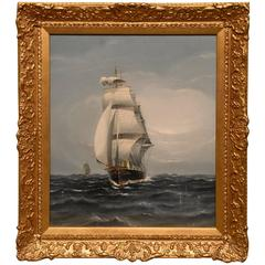 """Raising the Topsails"" by Charles Miller"