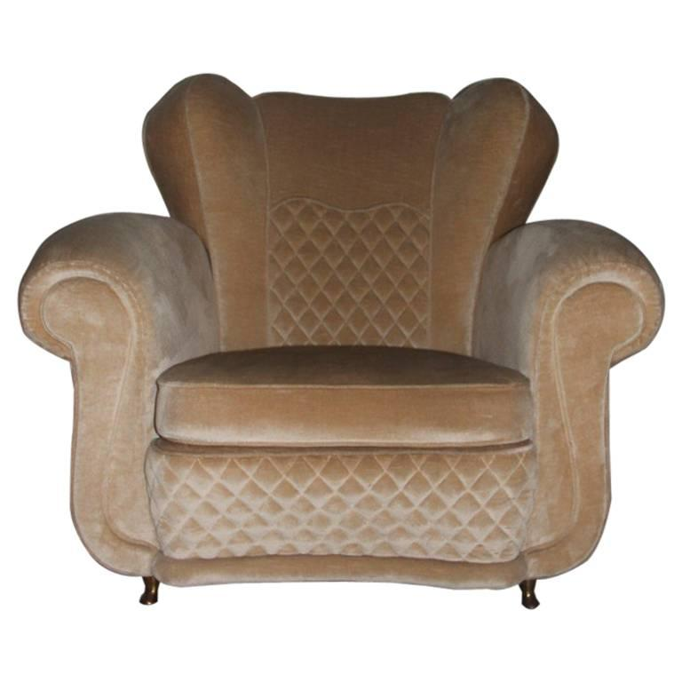 Very Special 1950s Armchair Attributed to Guglielmo Ulrich Italian Design