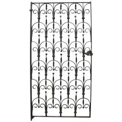 Salvaged 20th Century Wrought Iron Pedestrian Gate
