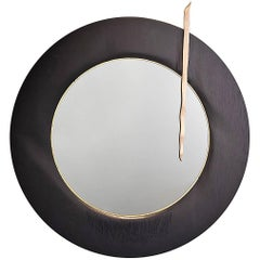 Black Oak and Golden Leaves Mirror by Designer Hoon Moreau