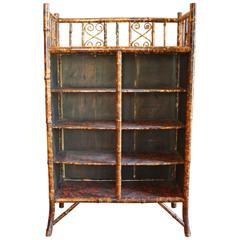 19th Century Bamboo Bookcase