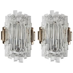 Textured Glass Sconces, circa 1950