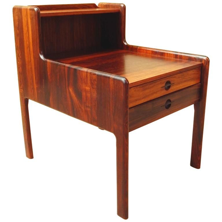 Danish Mid-Century Modern Rosewood Side Table, circa 1960 For Sale