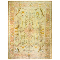 Stunning Antique Oushak Carpet