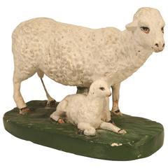 Sheep with Lamb American Chaulkware