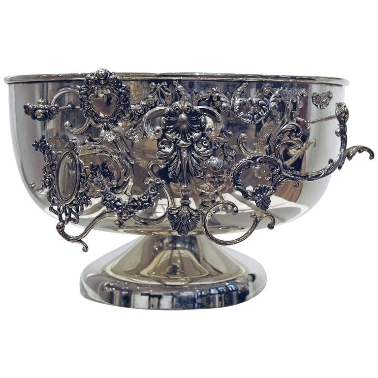 Sam Baron Silver Plated Decorative Champagne Bucket For Sale