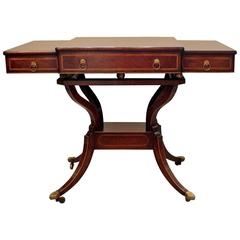 Elegant Regency Style Rosewood Console Table