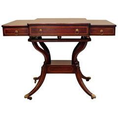 Elegant Regency Style Rosewood Console Table