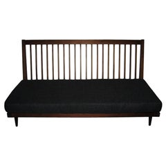 George Nakashima Settee with Charcoal Silk Cushion