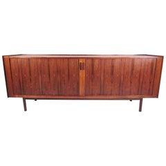 Stunning Danish Rosewood Tambour Sideboard Ib Kofod-Larsen