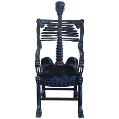 "Very Rare Russian Folk Art ""Skeleton"" Chair"