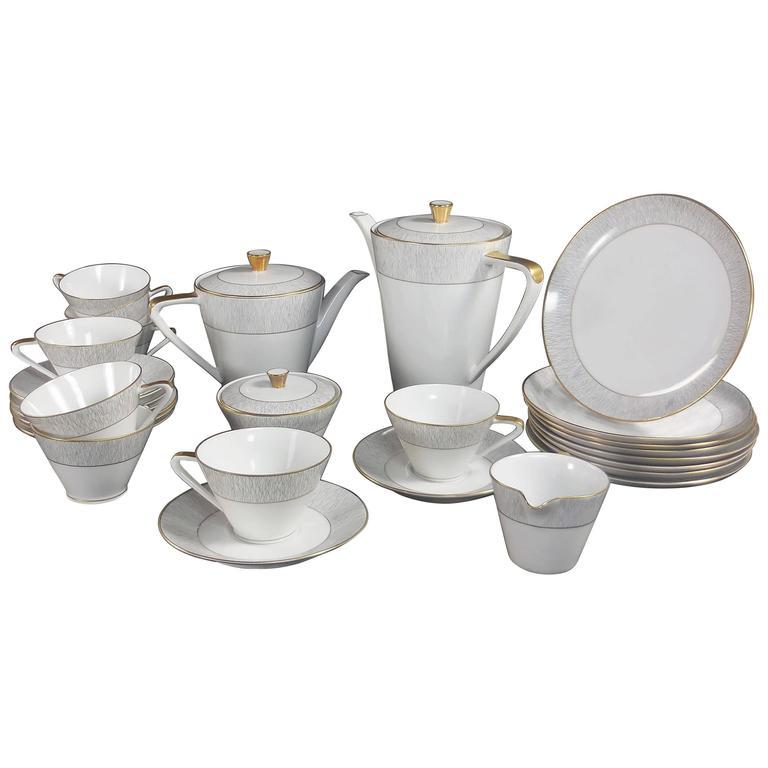 Royal Tettau Ria Mid-Century Modern Coffee and Tea Service for Eight
