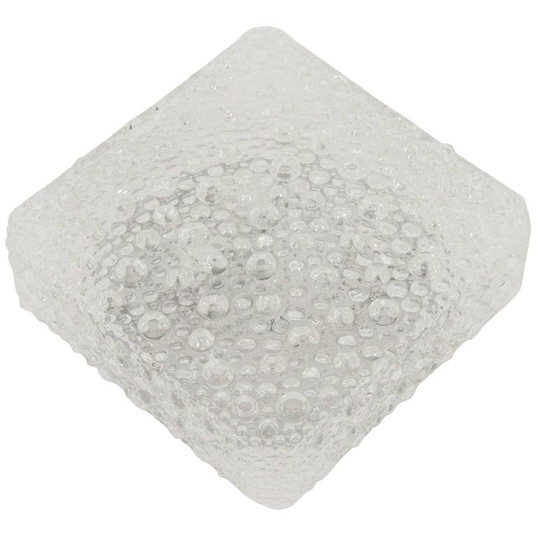 Square Bubble Textured Flush Mount 1