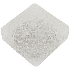 Square Bubble Textured Flush Mount