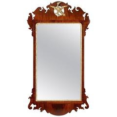 Chippendale Parcel-Gilt Mirror with Carved Phoenix