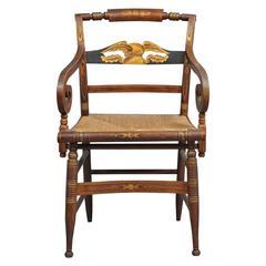 Late Sheraton Fancy Grain-Painted Armchair