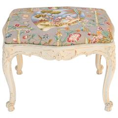 19th Century Painted Louis XV Stool