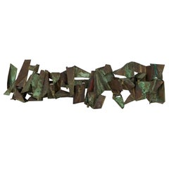 Paul Evans Copper Wall Candelabra Sculpture