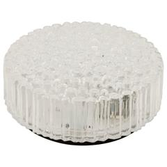 Limburg Ribbed Round Bubble Glass Flush Mount