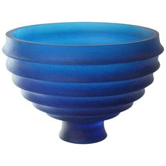 20th Century Scallop Bowl Glass Vessel
