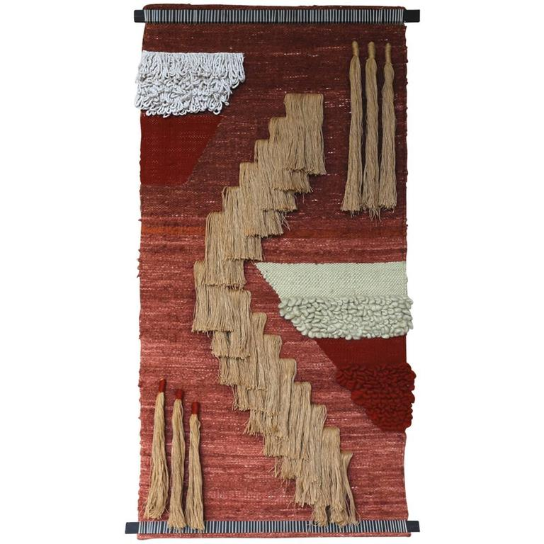 Large Scale Wall Hanging Fiber Art Moving For