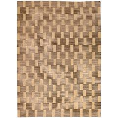 "Orley Shabahang ""Wood Blocks"" Persian Flat-Weave Carpet in Handspun Wool"