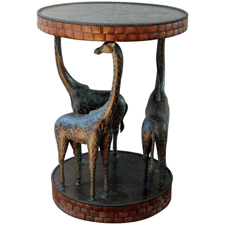 Rare Side Or Accent Table With Carved Wood And Full Figure