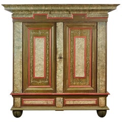18th Century Danish Baroque Two-Door Cabinet