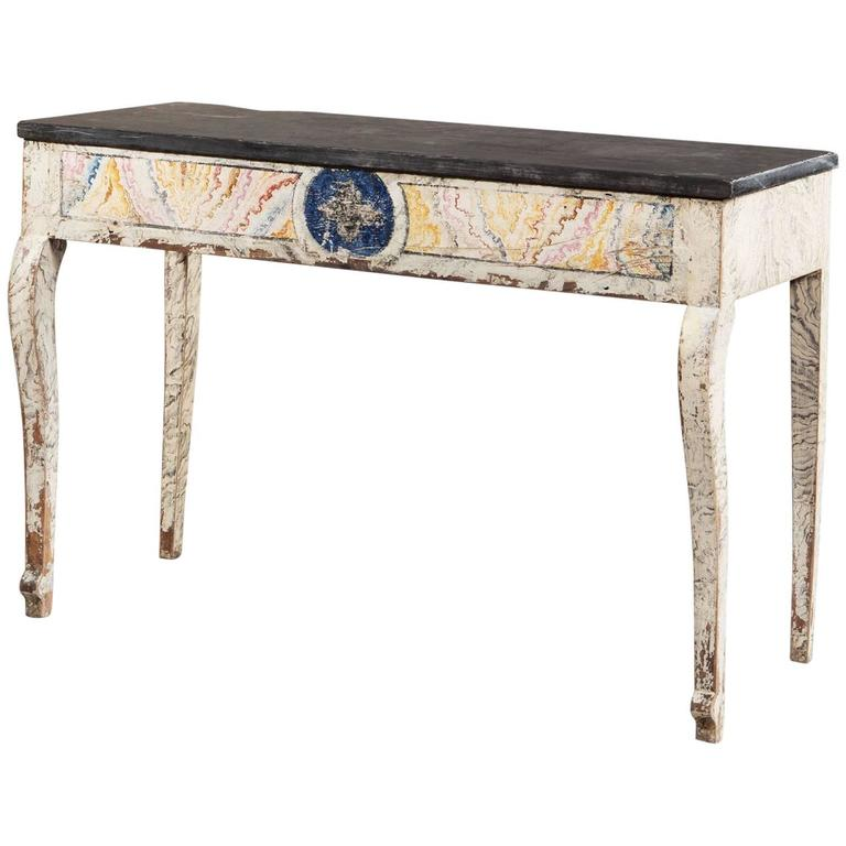 French Provincial Empire Console Table