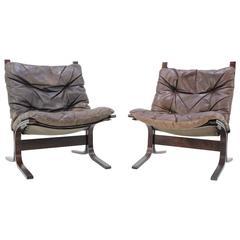 """1960s Set of Two Ingmar Relling """"Siesta Chair"""" for Westnofa Norway"""