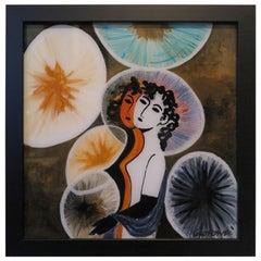 "Gio Ponti Painting ""I Gemelli"""